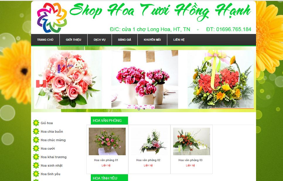HOA TUOI HONG HANH